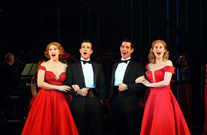 The cast of White Christmas at Leicester Curve. Photo: Catherine Ashmore