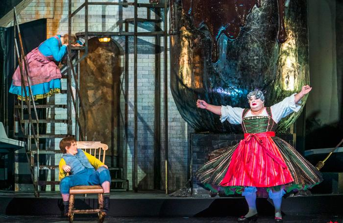 Jennifer Davis, Hanna Hipp  and Gerhard Siegel in Hansel and Gretel at Royal Opera House. Photo: Tristram Kenton