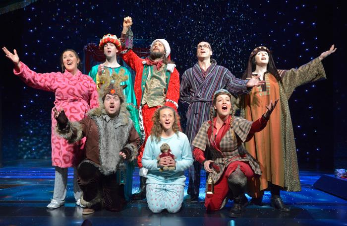 The cast of Horrible Christmas at Alexandra Palace, London. Photo: Ian Tilton