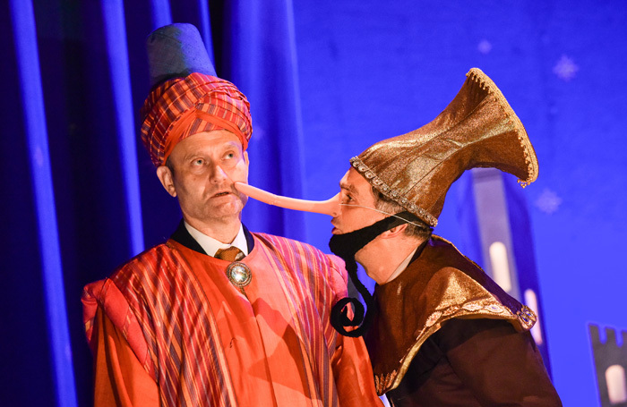 Hugh Dennis and John Marquez in The Messiah at the Other Palace, London. Photo: Robert Day