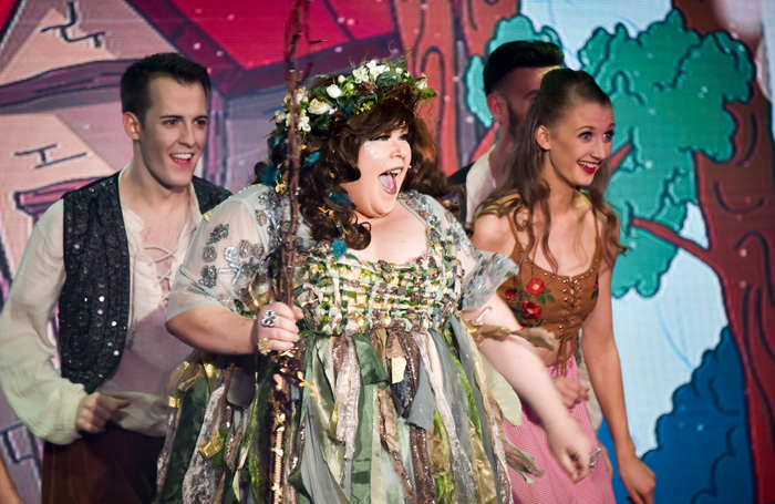 The cast of Jack and the Beanstalk at Hilton Metropole Brighton