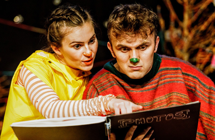 Christina Forrest and Richard Hay in Knitmas: A Winter Yarn at Greenwich Theatre, London
