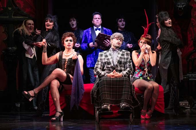 The cast of The Rocky Horror Show at Theatre Royal Brighton. Photo: David Freeman
