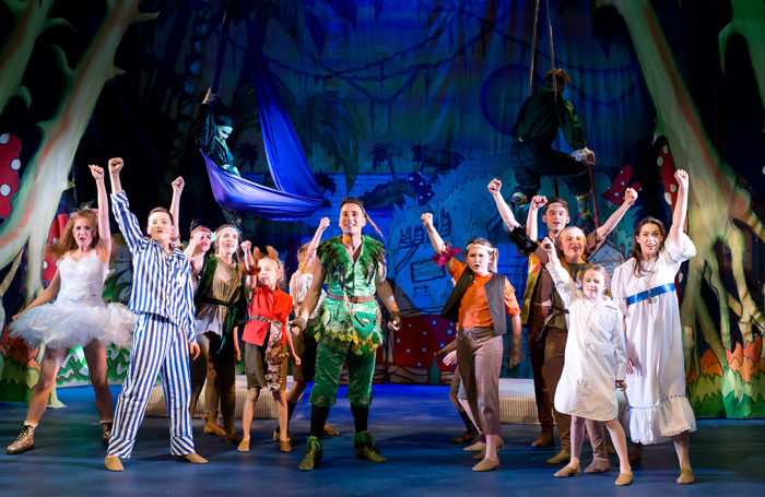 The company of Peter Pan at the Courtyard, Hereford