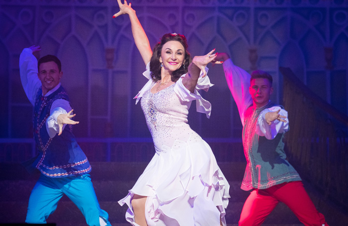 Shirley Ballas in Jack and the Beanstalk at Empire Theatre, Liverpool
