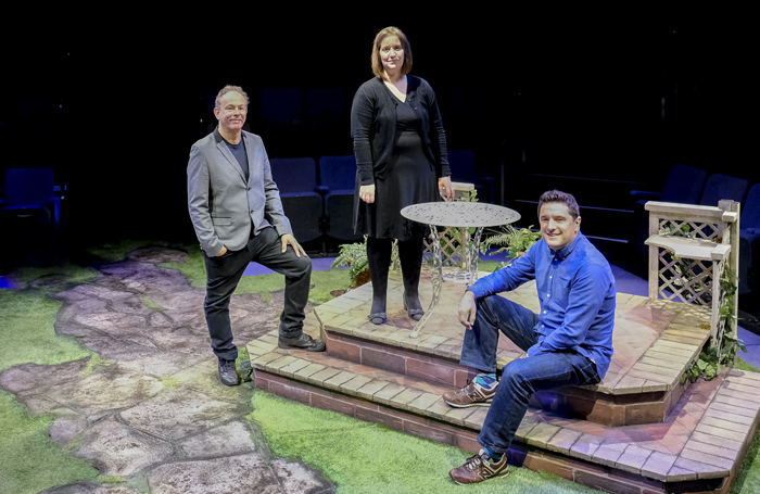 Paul Elsam, lead acting tutor at CU Scarborough; Kay Fraser, acting associate pro-vice chancellor/head of academic studies for CU Scarborough; and Paul Robinson, artistic director of the Stephen Joseph Theatre. Photo: Tony Bartholomew