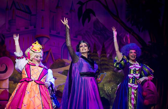 Suzie Chard, Craig Revel Horwood and Wendy Somerville in Cinderella at New Victoria, Woking. Photo: Ian Olsson