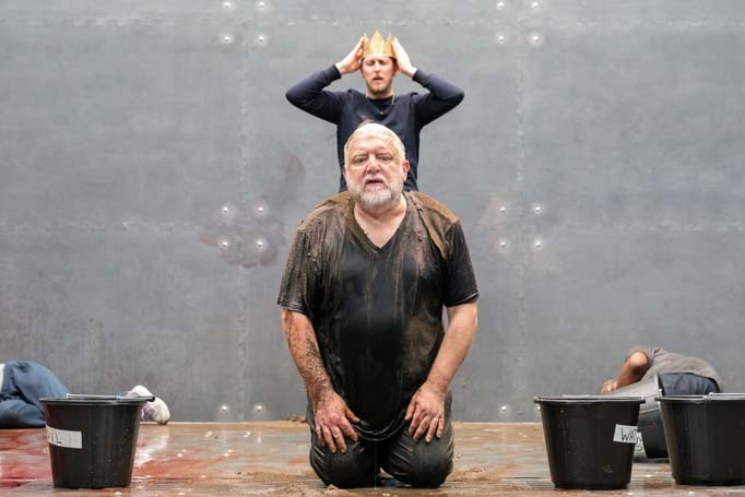 Simon Russell Beale and Leo Bill in The Tragedy of King Richard the Second at the Almeida Theatre, London. Photo Marc Brenner