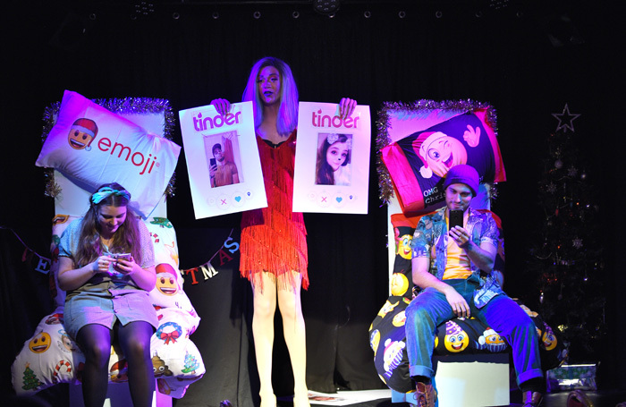 The cast of Tinderella at Canal Cafe Theatre, London