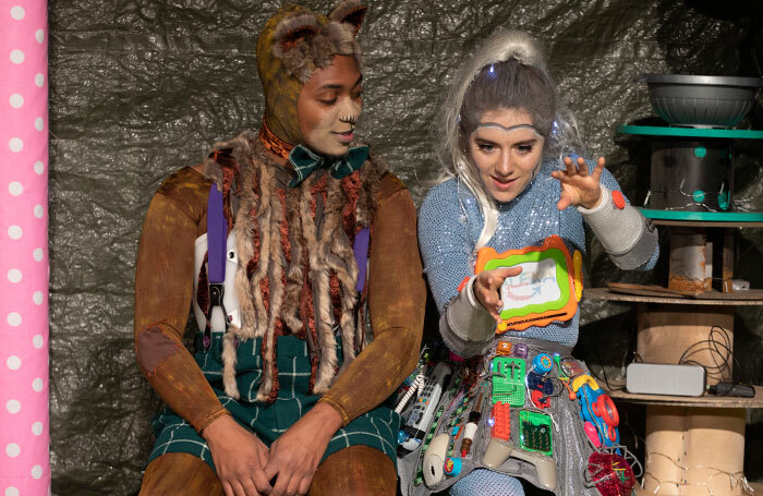 Marcquelle Ward and Sophie Coward in The Forest of Forgotten Discos! Photo: Lee Baxter