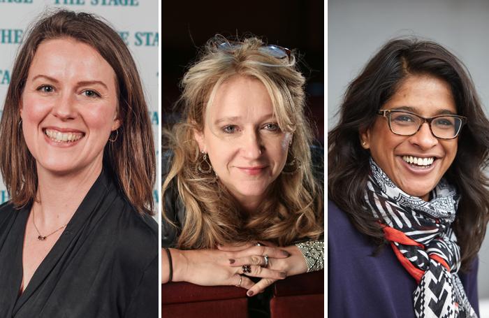 Cassie Chadderton, Sonia Friedman and Indhu Rubasingham. Photos: David Monteith-Hodge/Jason Alden/Mark Douet
