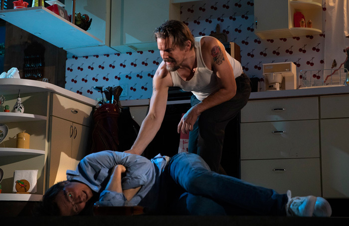 Paul Dano and Ethan Hawke in True West at American Airlines Theatre. Photo: Joan Marcus