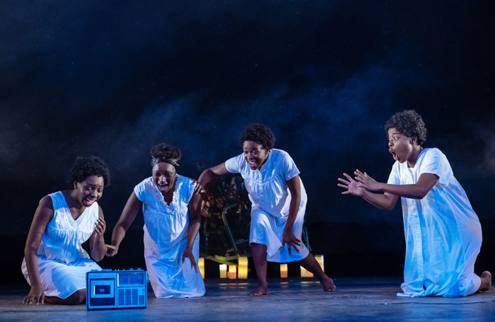 The cast of Our Lady of Kibeho at Royal and Derngate, Northampton. Photo: Manuel Harlan