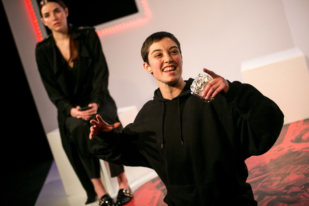 Natasha Cowley and Alice Handoll in Anomaly at Old Red Lion, London. Photo: Headshot Toby