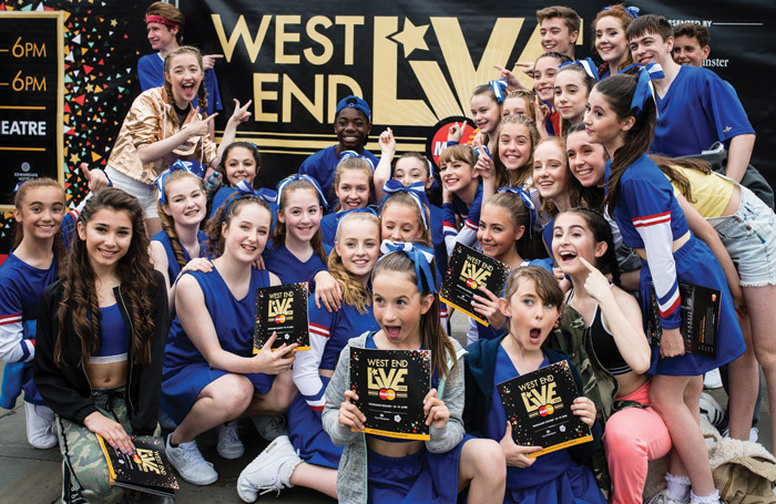 Performers from Spirit at West End Live