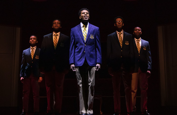 The cast of Choir Boy at Samuel J Friedman Theatre, New York. Photo: Matthew Murphy