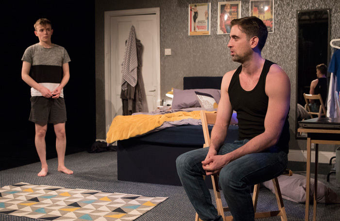 James Farley and Alexander Hulme in Extra Virgin at Above the Stag, London. Photo: PBG Studios