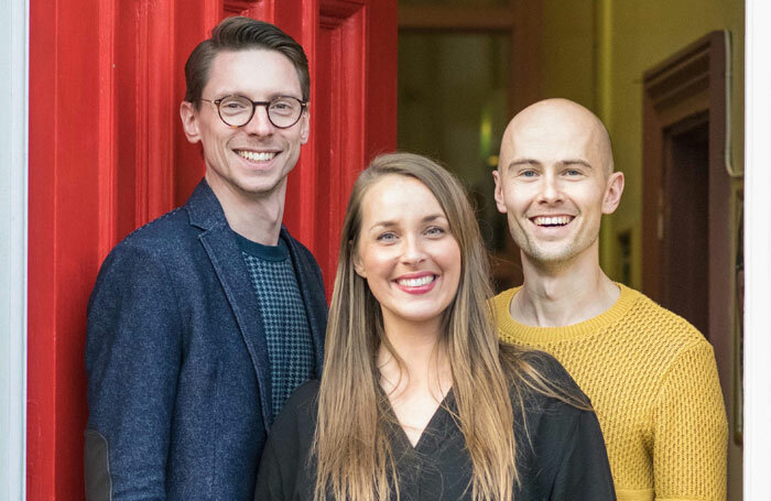 Left to right: Cosson's head of singing Richard Kent, principal Sophie Cosson and head of dance Mark Iles. Photo: Shoot Me Club