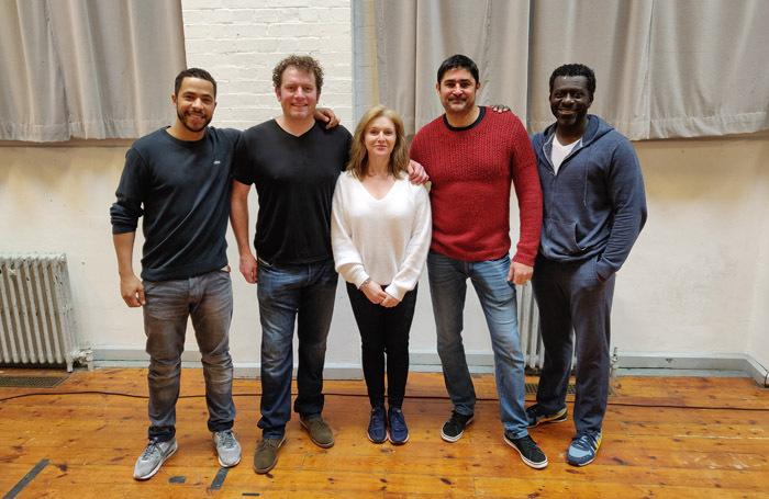 Cast of Jesus Hopped the A Train; Ukweli Roach, Matthew Douglas, Dervla Kirwan, Joplin Sibtain, Oberon K A Adjepong.