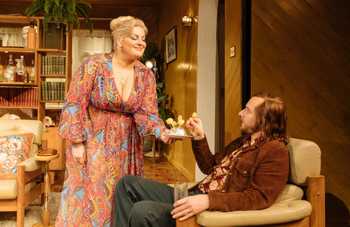 Jodie Prenger and Calum Callaghan in Abigail's Party. Photo: Manuel Harlan