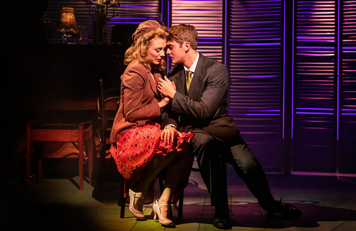Kelly Price and Felix Mosse in Aspects of Love at Southwark Playhouse, London. Photo: Pamela Raith