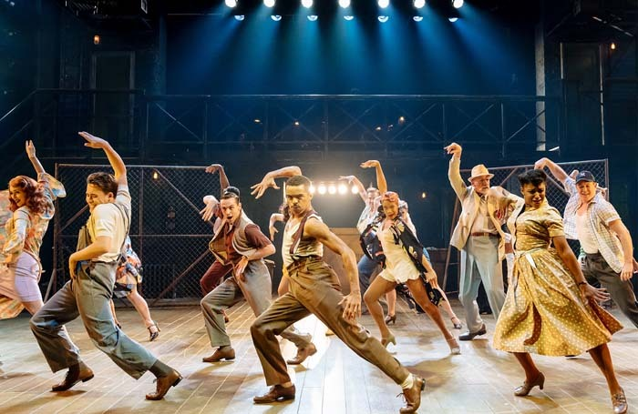 Layton Williams and the company of Kiss Me, Kate at Sheffield's Crucible Theatre. Photo: Manuel Harlan