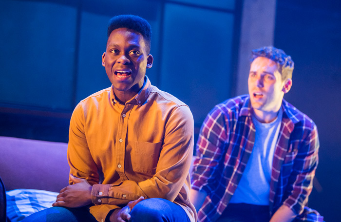 Tyrone Huntley and Billy Cullum in Leave to Remain at Lyric Hammersmith, London. Photo: Tristram Kenton