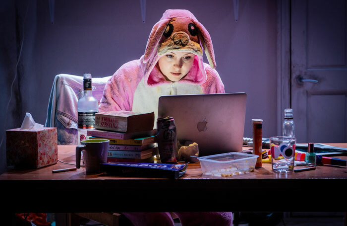 Kimberley Nixon in Original Death Rabbit at Jermyn Street Theatre. Photo: Robert Workman