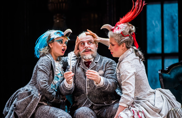 Anna Goryachova, Vladimir Stoyanov and Jacquelyn Stucker in The Queen of Spades at Royal Opera House. Photo: Tristram Kenton