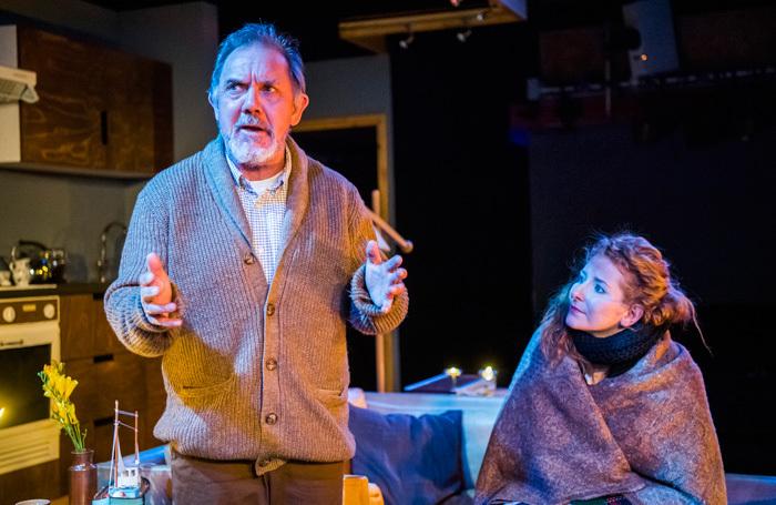 David Bamber and Dorothea Myer-Bennett in Rosenbaum's Rescue at Park Theatre. Photo: Tristram Kenton