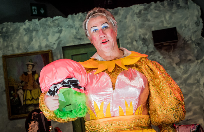 Peter Duncan in The Dame at Park Theatre, London. Photo: Robert Workman