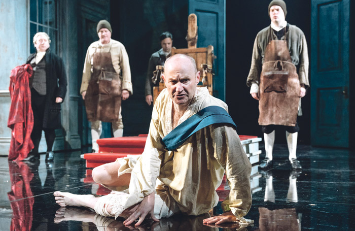 Mark Gatiss in The Madness of George III at Nottingham Playhouse. He was praised as an example of a high-profile actor taking a job in a regional theatre. Photo: Manuel Harlan