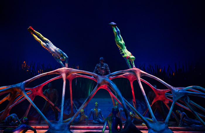 Scene from Cirque du Soleil's Totem at Royal Albert Hall