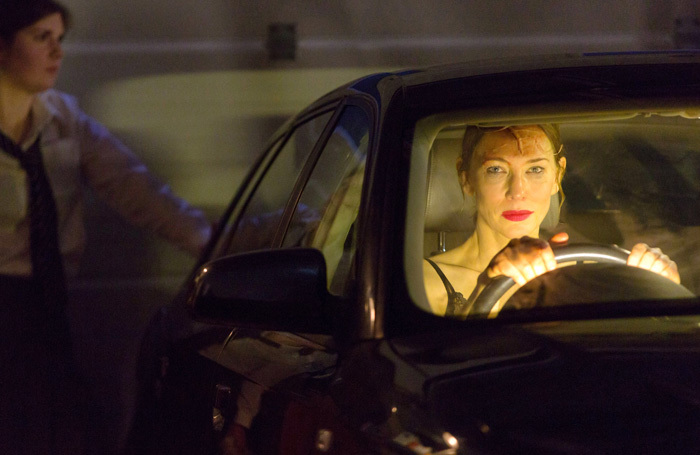 Cate Blanchett in When We Have Sufficiently Tortured Each Other at National Theatre. Photo: Stephen Cummiskey