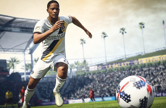 Adetomiwa Edun, who starred in the National's Translations last year, as his virtual alter ego Alex Hunter in FIFA18