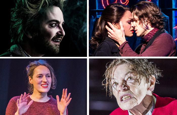 Clockwise from top left: Beetlejuice, Moulin Rouge, King Lear and Fleabag. Photos: Matthew Murphy/Tristram Kenton