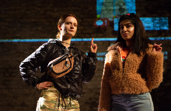Annice Boparai and Emma James at Vaults, London. Photo: Ali Wright