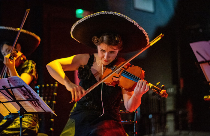 Sara Waddell in The Orchestra at Omnibus Theatre, London. Photo: Jacob Malinski