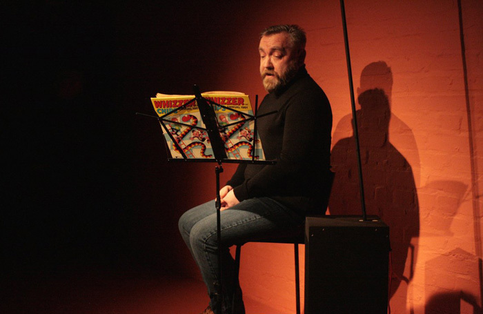 Gary Kitching in Bacon Knees and Sausage Fingers at Alphabetti Theatre, Newcastle-upon-Tyne. Photo:  Lauren Stone