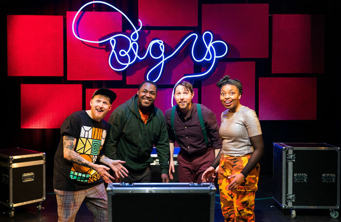 The cast of Big Up! at Unity Theatre, Liverpool. Photo: Helen Murray