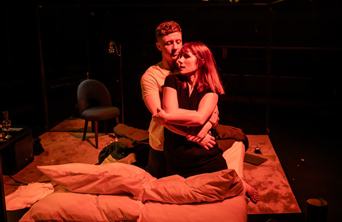 Charlotte Randle and Mike Noble in Cougar at Orange Tree Theatre, London. Photo: The Other Richard