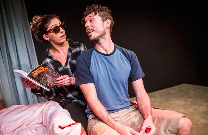 Dilek Rose and Gareth Jones in Cuzco at Theatre 503. Photo: Tristram Kenton