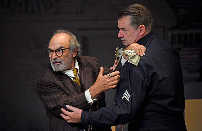 David Suchet and Brendan Coyle in The Price at Wyndham's Theatre, London. Photo: Nobby Clark