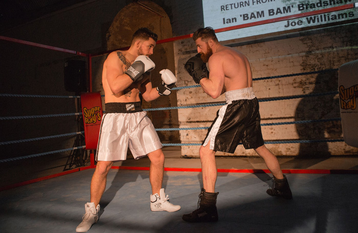 Pete Grimwood and Edward Linard in Fight Night at Vaults, London. Photo: Mark Senior