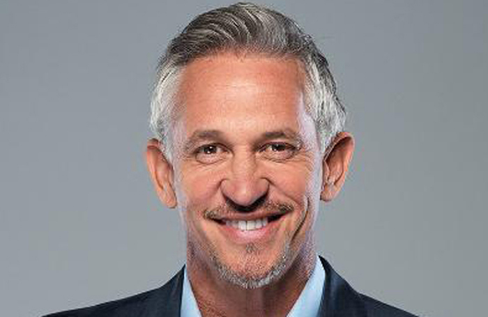 Gary Lineker will take part in a conversation event at Battersea Arts Centre with theatremakers including Simon Stephens and Jess Thom