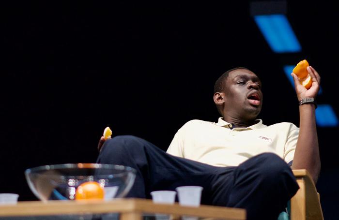 Ivan Oyik in Blue/Orange at Birmingham Repertory Theatre. Photo: Myah Jeffers