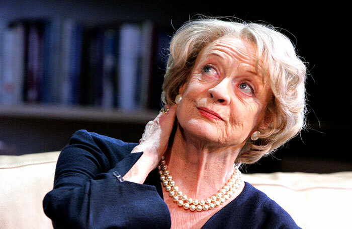 Maggie Smith in her most recent stage performance, The Lady from Dubuque at the Theatre Royal Haymarket (2007). Photo: Tristram Kenton
