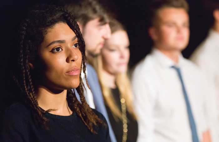 Students on foundation courses at Mountview Academy of Theatre Arts