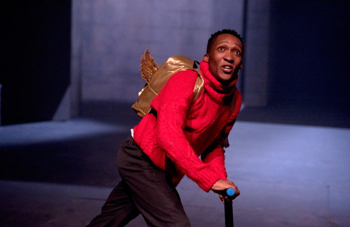 Marshall Defender Nyanhete as Icarus at the Unicorn Theatre. Photo: Camilla Greenwell