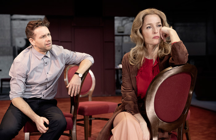 Julian Ovenden and Gillian Anderson in All About Eve at Noel Coward Theatre, London. Photo: Jan Versweyveld